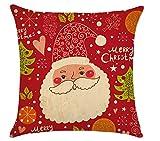 Leisial-Decorativa-de-Navidad-Fundas-de-Cojines-con-Lino-Cuadrado-Funda-para-Cojn-para-Sof-Cama-Coche-45x45cm