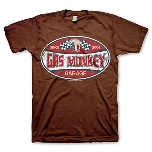 Gas Monkey Garage Officially Licensed - Since 2004 T-Shirt GMG Trikot T Shirt (Braun, X-Large) -
