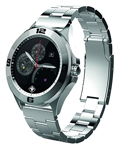 Tiger Smartwatch London (3,1 cm (1,22 Zoll) kapazitiver IPS Touchscreen, Bluetooth, Schrittzähler, Kalorienverbrauch, Schlafphasenmesser, Mikrofon, Lautsprecher) silber - London Tiger