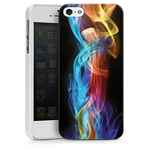 Apple iPhone X Silikon Hülle Case Schutzhülle Rauch Nebel Muster Hard Case weiß