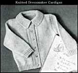 KNITTED DRESSMAKER CARDIGAN SWEATER - Vintage Baby / Toddler Knitting Pattern (ePattern) - Instant Download Kindle Ebook - AVAILABLE FOR DOWNLOAD to Kindle ... babies, baby clothes, baby patterns)