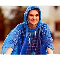 Lluvia Poncho/S con capucha lavable hasta 20 C Buena Calidad Pack de ahorro, azul