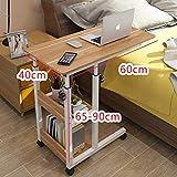 ZCCDNZ Nachttisch Laptoptisch Lazy Tisch Bett Tisch Kleiner Tisch im Schlafzimmer Bewegliches Heben Mini Student Einfach (Farbe : C, größe : 60cm)
