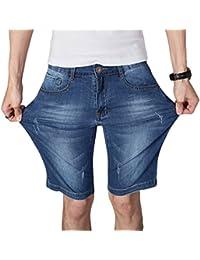 Guiran Pantalones Cortos De Mezclilla Para Hombre Bermuda Pantalones Jeans Denim Shorts Azul 2 33