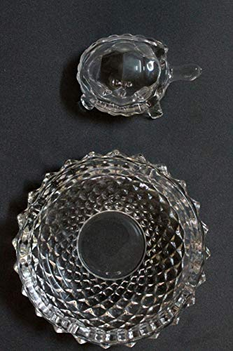 BANSURI Crystal fengshui Tortoise for Good Luck with a Beautiful Plate