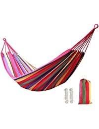 Portable Parachute Nylon Fabric Swing Hanging Hammock Outdoor Camping Travel-Assorted Color & Design