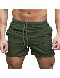 Ushero Pantalones Cortos Deportivos para Hombre Pantalón Cómodo de Moda con Bolsillos Cintura Elástica Pantalones Deporte Verano