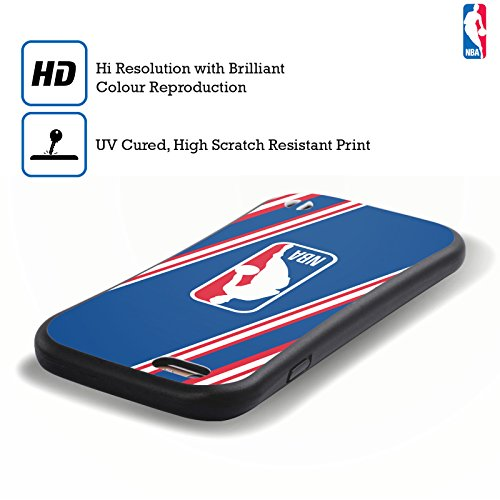 Ufficiale NBA Banner Logoman Case Ibrida per Apple iPhone 6 Plus / 6s Plus Strisce