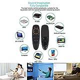 Ratón de aire de 2,4 GHz, G10, control remoto vocal, micrófono inalámbrico Gyro IR Learning para Android TV Box T9 H96 max X96 Mini