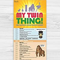 My Twin Thing Family Childrens Kids Height Chart for Bedroom or Nursery Wall