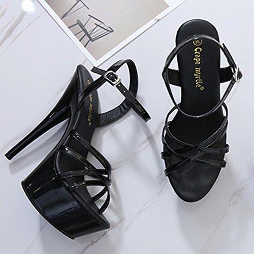 Oasap Summer designer ultra-high hollow out sexy sandals heels white
