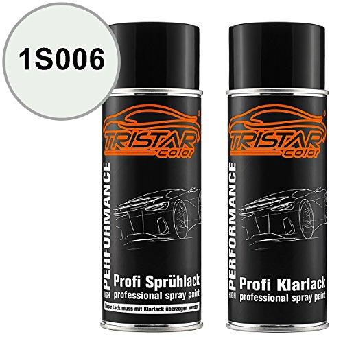 Preisvergleich Produktbild TristarColor Autolack Spraydosen Set Mack Trucks 1S006 Nexos White Basislack Klarlack Sprühdose 400ml