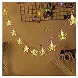 Erwa Photo Star Clamp 20 LEDs USB-Schnittstelle, LED-Vorhang Lichterketten Vorhang Lichter, Dekoration, Gedenken, Foto-Wand-Hochzeit, Party, Home, Warmweiß, Multi Farbe,6M/19.7Ft