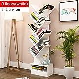 Aufbewahren & Ordnen Einfaches Modernes Bücherregal-Bücherregal, Das Kreative Baum-Form mit Fach landet (Farbe : #2, größe : 9floors)