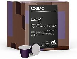 Marque Amazon- Solimo Capsules Lungo, compatibles Nespresso*- café certifié UTZ, 100 capsules (2 x 50)