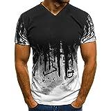 HULKY Vendita di Liquidazione Aggiornamento Uomini Tee Shirt Slim Hipster Hip Hop Camouflage Stampa Girocollo Manica Corta T-Shirt Top per Gli Uomini(Rosso 8,x-Large)