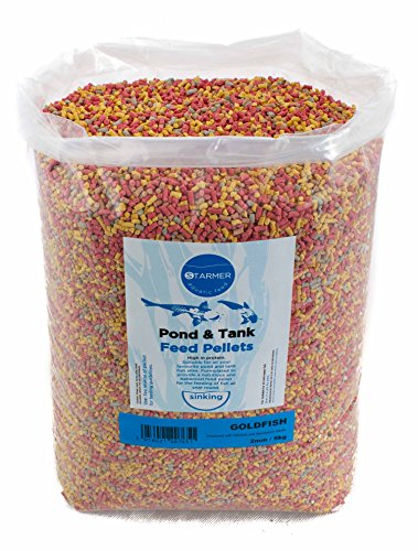 Starmer Wasserfutter Goldfisch & Koi Teich oder Tank Fischfutter-Pellets 2 mm Pellet 100 g bis 5 kg Beutel -