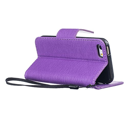 Nutbro iPhone 5S Case,iPhone 5 Case,Flip Wallet Pu Leather Case Stand Cover with Credit Card Slots Case for iPhone 5S/SE HX-iPhone-5S-48