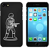 Azeeda Black 'Army Figure' Case/Cover for iPhone 7 (MC00170893)