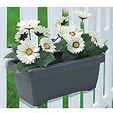 Buri Balkonkasten mit Künstlichen Weißen Gerbera Blumenkasten Kunstpflanze Gartendeko