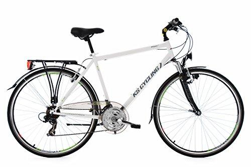 KS Cycling Herren Trekkingrad Vegas RH 58 cm Flachlenker Fahrrad, Weiß, 28