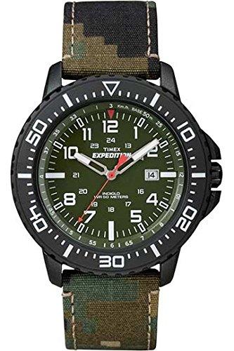 Timex-Expedition-Orologio-da-Polso-al-Quarzo-Analogico-Uomo-Tessuto-Verde