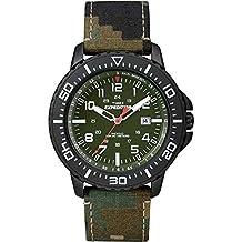 Timex Expedition Orologio da Polso al Quarzo, Analogico, Uomo, Tessuto, Verde