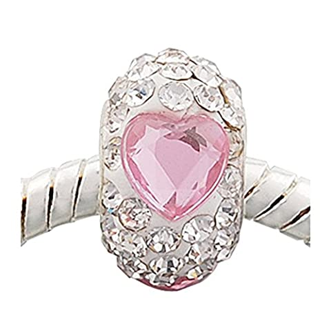 "Andante-Stones 925 Sterling Silber Kristall Bead ""Romance"" Element Kugel für European Beads Modul Armband + Organzasäckchen"