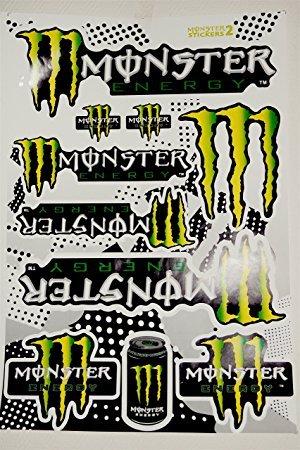 Autocollants Stickers Monster Feuille de 10 Stickers