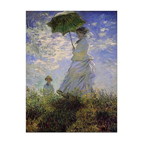 Kunstdruck Poster - Claude Monet Frau mit Sonnenschirm 60x80cm ca. A1 - Alte Meister Bild ohne Rahmen