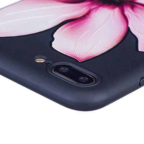 Coque iphone 6 / 6S,Coffeetreehouse Motif soft coloré de motif estampé Noir mince TPU Protecteur Case Pour iphone 6 / 6S(Flash papillon) Magnolia flower