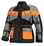 Bangla Kinder Motorradjacke Tourenjacke Textil 1907 Orange Grau 140
