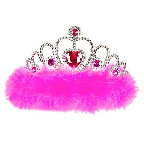 Motto Casino Party Kostüme (Widmann 8867P - Diadem Girls Night out mit Juwelen und Marabu, One)