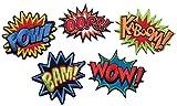 i-Patch Patches - 0069 - Set - Wow - Oops - Bam - Kaboom - Pow - Stickerei - Applikation - Aufnäher - Sticker - Badge - Flicken - DIY - Emoji - Aufbügler - Bügelbild - Iron-on - Embleme - Retro