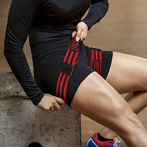 Foxter occlusion-Bänder, von der Premium-Fitness-Bandagen mit 25x 2cm starke elastische Riemen und Schnalle quick-release Cam, rot -