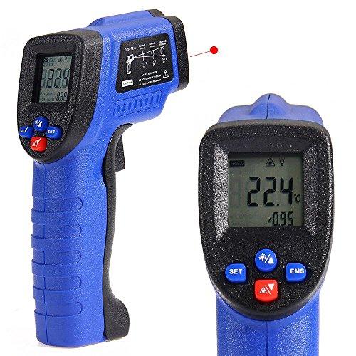COLEMETER Infrarot Thermometer Laser Pyrometer - 50 bis + 550 °C Infrarot Temperaturmessgerät digital Thermometer Temperaturmesser Laserpointer