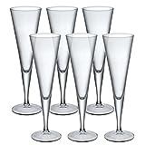 Bormioli Rocco Ypsilon copas de champán cristal cena gafas tostadas vino–juego de 6