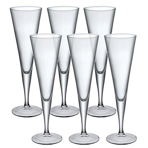 Bormioli Rocco Ypsilon flûtes à Champagne Verrerie Verres à dîner Toast à vin - Lot de 6