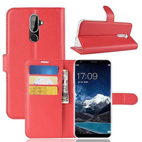 SHIEID Oukitel K5 Hülle Brieftasche Hülle Kunstleder Handyfall Handyfall Für Oukitel K5(Rot)