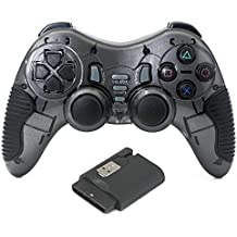 QUMOX 2.4GHz Controlador de juego inalámbrico Gamepad Mando para PC Windows PS2 PS3