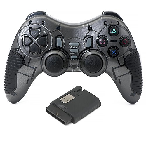 QUMOX 2.4GHz Controlador de juego inalámbrico Gamepad Mando para PC W