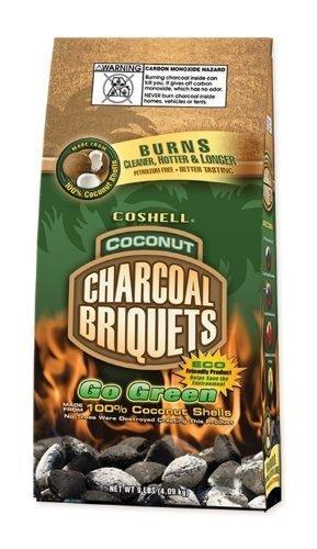 Coshell Charcoal Briquettes 9lb (4.08kg) - 2 Pack (8.16kg)