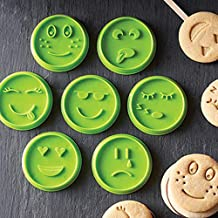 Cuigu 7pcs Cara Emoji Copa Galleta Molde para Galletas Chocolate Hecho casa Herramienta de repostería de