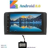 """Hi-azul Android 8.0 Car Autoradio, Dash 8-Core 64Bit RAM 4G ROM 32G Car Radio 9"""" Autonavigation Kopfeinheit Car Audio für Mercedes-Benz ML/GL Serie (mit Glasfaser-Decoder)"""