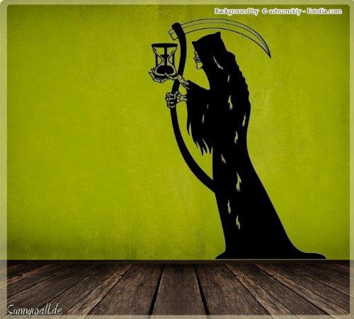Sunnywall.de Wandtattoo Halloween Der Tod Deathman Sensenmann Größe Größe 1 (Der Tod Halloween)