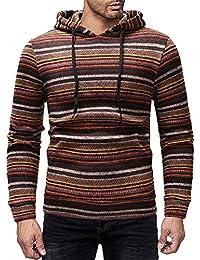 DIKEWANG Men s Hoodies Colour Block Stripe Pullovers Casual Sweatershirt  Fitness Clothing Men Sweatshirt Hooded Muscle Coat dfc7346266efb