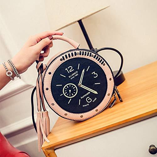Einzigartiges Design-runde Uhr-Form-vorzügliche Umhängetasche Crossbody-Beutel-Handtaschen-Handy-Tasche zufällige Freizeit für die tägliche Datierung - Rosa