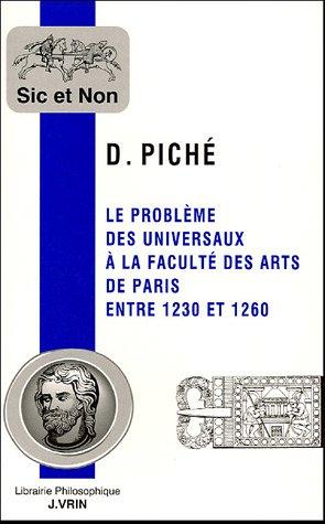 Le problème des universaux à la faculté des arts de Paris entre 1230 et 1260
