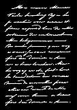 Carabelle Studio TE60039 Art Template-Handwritten Text, Plastique, Blanc/Transparent, 10 x 14 x 0,5 cm