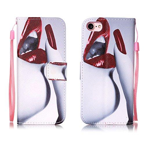 XFAY HX439【Eine Vielzahl von Mustern 】iPhone 7plus Handyhülle Case für iPhone 7plus Hülle im Bookstyle, PU Leder Flip Wallet Case Cover Schutzhülle für Apple iPhone 7plus(5.5 Zoll) Schale Handyhülle C Farbe-3